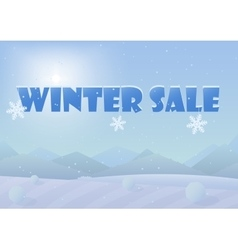Winter sale words on the beautiful Chrismas winter vector image vector image
