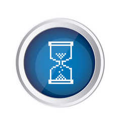 blue emblem mouse hourglass cursor icon vector image