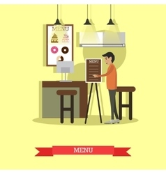 Coffee house cafe shop concept vector image vector image