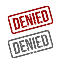 DENIED Red Stamp over a white background vector image