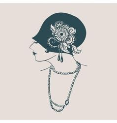 Flapper girl vector image