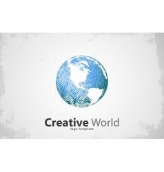 Globe logo Creative world design Creative logo vector image
