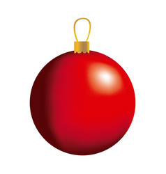 red big christmas balls icon vector image