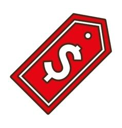 Red sticker tag price symbol icon vector