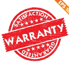 Stamp sticker WARRANTY collection - - EPS10 vector image vector image