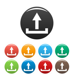 upload icons set simple vector image