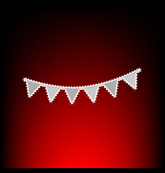 holiday flags garlands vector image