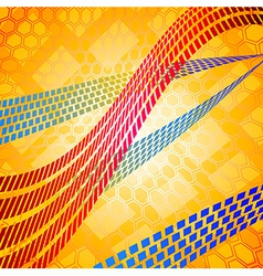 Mosaic lines over the hexagonal grid vector image