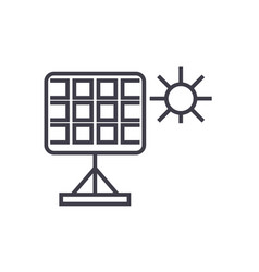solar panel linear icon sign symbol on vector image
