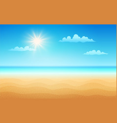 tropical beach in sunny day vector image vector image