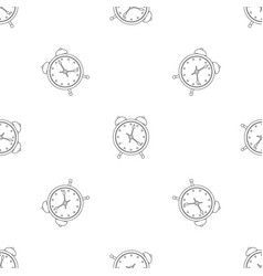 alarm clock pattern seamless vector image