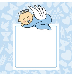 baby boy sleeping vector image