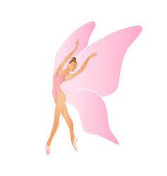 ballerina female dancer with wings vector image