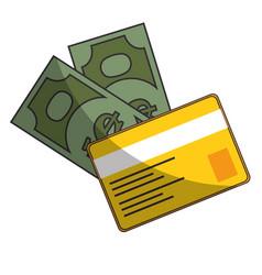 bills and credit card vector image