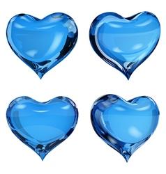 Blue hearts vector