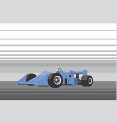 blue race car vector image