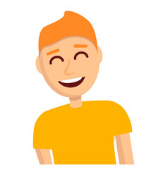 boy laugh icon cartoon style vector image