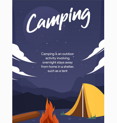camping background navy vector image