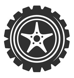car wheel icon simple style vector image