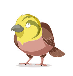 Cartoon smiling yellowhammer vector
