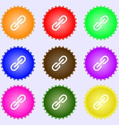 Chain icon sign big set of colorful diverse vector