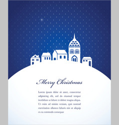 christmas card poster vector image