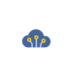cloud code icon flat element vector image