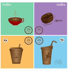 Coffee icon set design vector