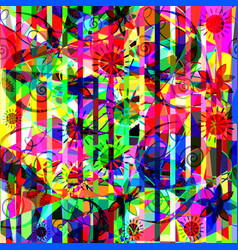 colorful floral abstraction design vector image