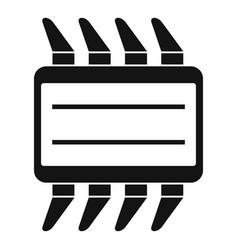 Cpu icon simple vector