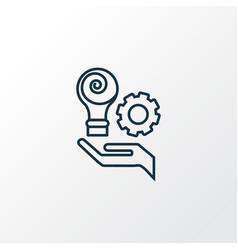 creative services icon line symbol premium vector image