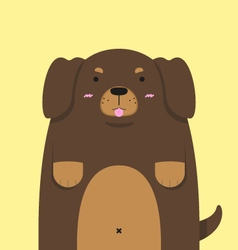 cute big fat Dachshund dog vector image