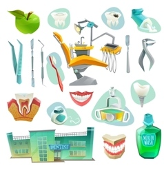 Dental Office Decorative Icons Set vector