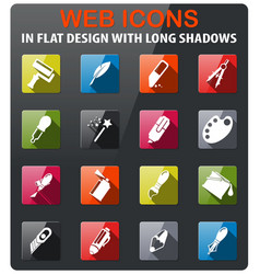 Design tools icons set vector