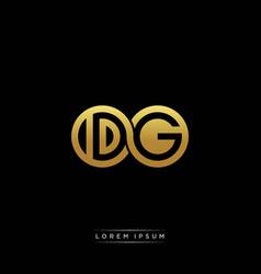 dg initial letter linked circle capital monogram vector image