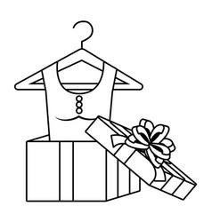 Dress inside gift design vector