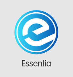 Essentia crypto currency - trading sign vector