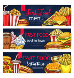 Fast food banners for restaurant vector