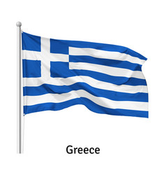 flag greece vector image