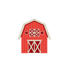 Flat barn icon isolated on white background vector
