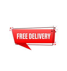 Free delivery service badge fast time delivery on vector