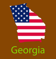Georgia state of america with map flag print on vector