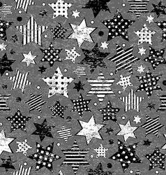 Grunge vintage stars seamless background vector image