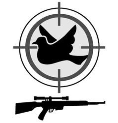 Hunt bird symbol vector image