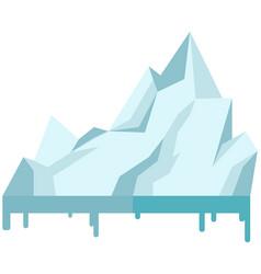 Iceberg icon isolated on white background melting vector