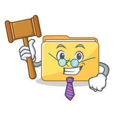 Judge folder character cartoon style vector