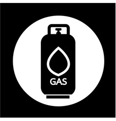 Liquid propane gas icon vector