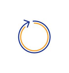 Loop arrow line icon refresh arrowhead vector