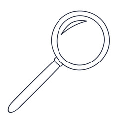 Magnifying glass doodle style black and white vector