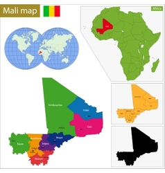 Mali map vector image